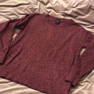 GAP Heathered Pink Sweater